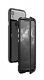 Dafoni Glass Guard iPhone XR Metal Kenarlı Cam Siyah Kılıf