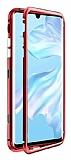 Dafoni Glass Guard Oppo A5 2020 Metal Kenarlı Cam Kırmızı Kılıf