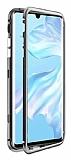 Dafoni Glass Guard Oppo A5 2020 Metal Kenarlı Cam Silver Kılıf