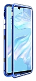 Dafoni Glass Guard Samsung Galaxy A70 Metal Kenarlı Cam Mavi Kılıf