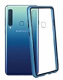 Dafoni Glass Guard Samsung Galaxy A9 2018 Metal Kenarlı Cam Mavi Kılıf