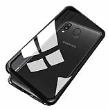 Dafoni Glass Guard Samsung Galaxy M20 Metal Kenarlı Cam Siyah Kılıf