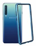 Dafoni Glass Guard Samsung Galaxy M30 Metal Kenarlı Cam Mavi Kılıf
