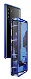 Dafoni Glass Guard Samsung Galaxy Note 10 Metal Kenarlı Cam Lacivert Kılıf