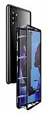 Dafoni Glass Guard Samsung Galaxy Note 10 Metal Kenarlı Cam Siyah Kılıf