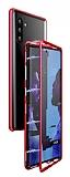 Dafoni Glass Guard Samsung Galaxy Note 10 Metal Kenarlı Cam Kırmızı Kılıf