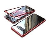 Dafoni Glass Guard Samsung Galaxy Note 8 Metal Kenarlı Cam Kırmızı Kılıf