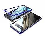 Dafoni Glass Guard Samsung Galaxy Note 8 Metal Kenarlı 360 Derece Koruma Cam Lacivert Kılıf