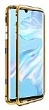 Dafoni Glass Guard Samsung Galaxy Note 8 Metal Kenarlı Cam Gold Kılıf