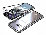 Dafoni Glass Guard Samsung Galaxy S7 Edge Metal Kenarlı Cam Silver Kılıf