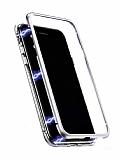 Dafoni Glass Guard Samsung Galaxy S8 Metal Kenarlı Cam Silver Kılıf