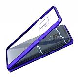 Dafoni Glass Guard Samsung Galaxy S9 Metal Kenarlı Cam Lacivert Kılıf
