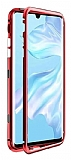 Dafoni Glass Guard Xiaomi Redmi Note 8 Metal Kenarlı Cam Kırmızı Kılıf