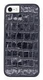 Dafoni Grand iPhone 7 / 8 Siyah Gerçek Deri Kılıf