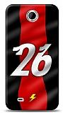 HTC Desire 300 Kırmızı Şimşekler Kılıf