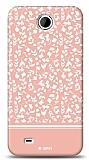 HTC Desire 300 Pink Flower Kılıf