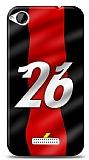 HTC Desire 320 Kırmızı Şimşekler Kılıf