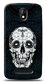 Dafoni HTC Desire 500 Black Skull K�l�f