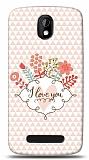 Dafoni HTC Desire 500 I Love You K�l�f