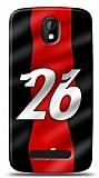 Dafoni HTC Desire 500 Kırmızı Şimşekler Kılıf
