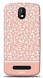 Dafoni HTC Desire 500 Pink Flower Kılıf