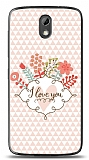 HTC Desire 526 I Love You Kılıf