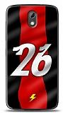 Dafoni HTC Desire 526 K�rm�z� �im�ekler K�l�f