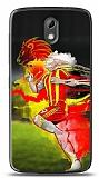 HTC Desire 526 Sarı Kırmızı Kılıf