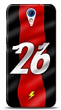 HTC Desire 620 Kırmızı Şimşekler Kılıf