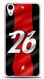 Dafoni HTC Desire 626 Kırmızı Şimşekler Kılıf