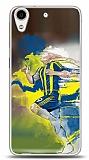 Dafoni HTC Desire 626 Sarı Lacivert Kılıf