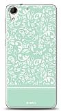 Dafoni HTC Desire 728G Green Flower Kılıf