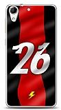 Dafoni HTC Desire 728G Kırmızı Şimşekler Kılıf