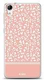 Dafoni HTC Desire 728G Pink Flower Kılıf