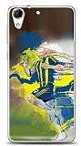 Dafoni HTC Desire 728G Sarı Lacivert Kılıf