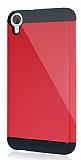 Dafoni HTC Desire 820 Slim Power Ultra Koruma K�rm�z� K�l�f