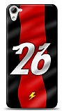 HTC Desire 826 Kırmızı Şimşekler Kılıf