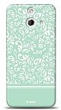 HTC One E8 Green Flower Kılıf