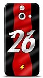 HTC One E8 Kırmızı Şimşekler Kılıf
