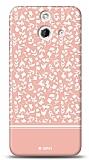 HTC One E8 Pink Flower Kılıf