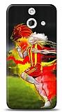 HTC One E8 Sarı Kırmızı Kılıf