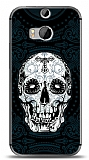 HTC One M8s Black Skull Kılıf