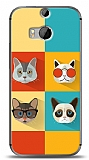 HTC One M8s Four Cats Kılıf