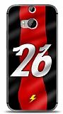 Dafoni HTC One M8s K�rm�z� �im�ekler K�l�f