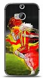 HTC One M8s Sarı Kırmızı Kılıf