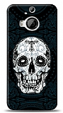 HTC One M9 Plus Black Skull Kılıf