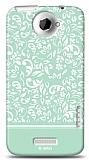 Dafoni HTC One X Green Flower K�l�f
