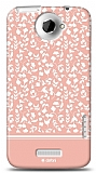 Dafoni HTC One X Pink Flower K�l�f