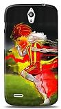 Huawei Ascend G610 Sarı Kırmızı Kılıf