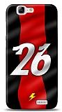 Dafoni Huawei Ascend G7 Kırmızı Şimşekler Kılıf